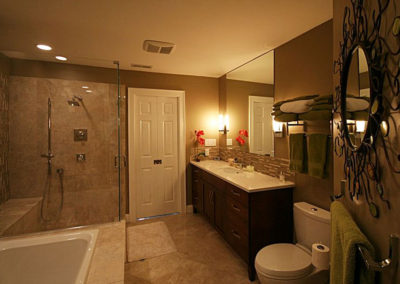 Space added for a large Elegant Bath