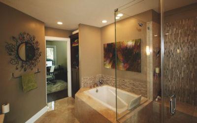 An Elegant, Large, Master Bath