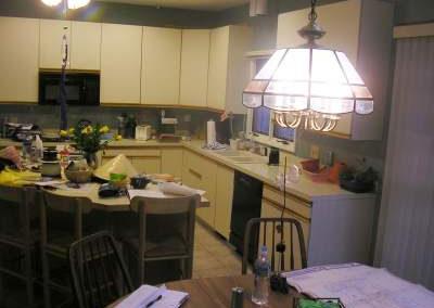Kitchen lacking proper lighting