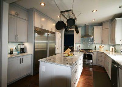 Updated kitchen design with plenty of storage.
